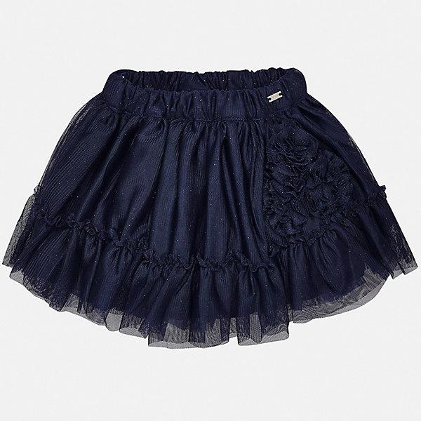 Юбка Mayoral для девочкиОдежда<br>Характеристики товара:<br><br>• цвет: синий<br>• состав ткани верха: 100% полиэстер<br>• подкладка: 100% хлопок<br>• сезон: круглый год<br>• особенности модели: нарядная<br>• пояс: резинка<br>• страна бренда: Испания<br>• неповторимый стиль Mayoral<br><br>Пышная детская юбка- отличный вариант одежды для торжественного случая. Такая юбка для девочки декорирована блестками. Эффектная детская юбка от известного бренда Майорал выглядит нарядно и стильно. <br><br>Юбку для девочки Mayoral (Майорал) можно купить в нашем интернет-магазине.<br>Ширина мм: 207; Глубина мм: 10; Высота мм: 189; Вес г: 183; Цвет: синий; Возраст от месяцев: 24; Возраст до месяцев: 36; Пол: Женский; Возраст: Детский; Размер: 98,80,86,92; SKU: 7545995;
