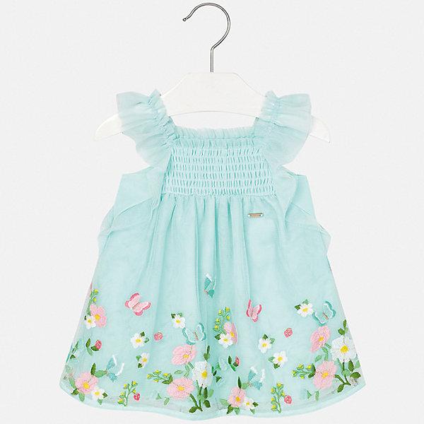 Платье Mayoral для девочкиПлатья и сарафаны<br>Характеристики товара:<br><br>• цвет: голубой<br>• состав ткани верха: 100% полиэстер<br>• подкладка: 100% хлопок<br>• сезон: лето<br>• без рукавов<br>• страна бренда: Испания<br>• неповторимый стиль Mayoral<br><br>Легкое детское платье сделано из дышащего приятного на ощупь материала. Благодаря качественной хлопковой ткани детского платья для девочки создаются комфортные условия для тела. Платье для девочки отличается стильным продуманным дизайном.<br><br>Платье для девочки Mayoral (Майорал) можно купить в нашем интернет-магазине.<br>Ширина мм: 236; Глубина мм: 16; Высота мм: 184; Вес г: 177; Цвет: голубой; Возраст от месяцев: 6; Возраст до месяцев: 9; Пол: Женский; Возраст: Детский; Размер: 74,98,92,86,80; SKU: 7546042;