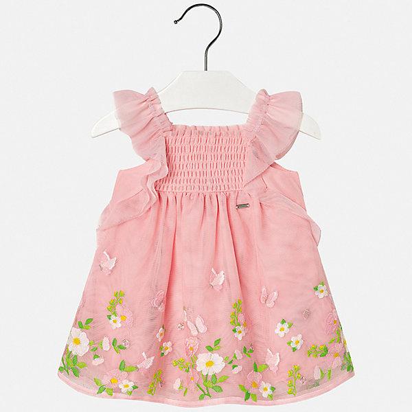 Платье Mayoral для девочкиПлатья<br>Характеристики товара:<br><br>• цвет: мульти<br>• состав ткани верха: 100% полиэстер<br>• подкладка: 100% хлопок<br>• сезон: лето<br>• без рукавов<br>• страна бренда: Испания<br>• неповторимый стиль Mayoral<br><br>Благодаря качественной хлопковой подкладке детского платья для девочки создаются комфортные условия для тела. Платье для девочки отличается стильным продуманным дизайном. Такое детское платье сделано из дышащего приятного на ощупь материала. <br><br>Платье для девочки Mayoral (Майорал) можно купить в нашем интернет-магазине.<br>Ширина мм: 236; Глубина мм: 16; Высота мм: 184; Вес г: 177; Цвет: розовый; Возраст от месяцев: 6; Возраст до месяцев: 9; Пол: Женский; Возраст: Детский; Размер: 74,98,92,86,80; SKU: 7546048;