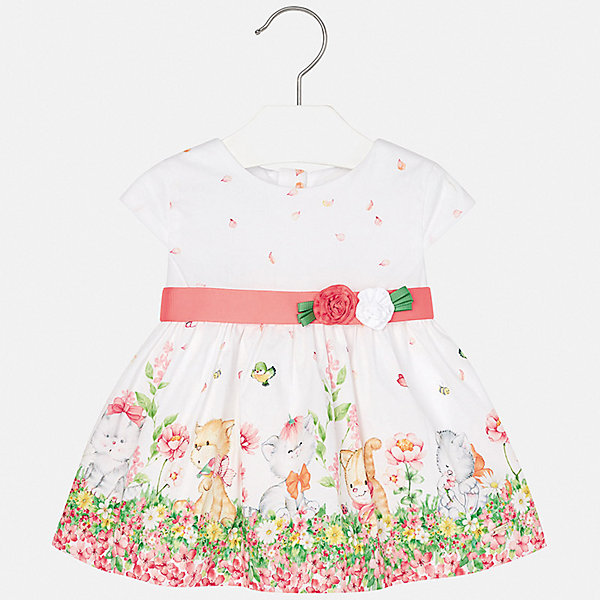 Платье Mayoral для девочкиПлатья и сарафаны<br>Характеристики товара:<br><br>• цвет: белый<br>• состав ткани верха: 95% хлопок, 5% эластан<br>• подкладка: 100% хлопок<br>• сезон: круглый год<br>• особенности модели: нарядная<br>• застежка: молния<br>• короткие рукава<br>• страна бренда: Испания<br>• неповторимый стиль Mayoral<br><br>Оригинальное детское платье отличается модным и продуманным дизайном. В платье для девочки от испанской компании Майорал ребенок будет выглядеть модно, а чувствовать себя - комфортно. Красивое платье для девочки от Майорал поможет обеспечить ребенку комфорт. <br><br>Платье для девочки Mayoral (Майорал) можно купить в нашем интернет-магазине.<br>Ширина мм: 236; Глубина мм: 16; Высота мм: 184; Вес г: 177; Цвет: розовый; Возраст от месяцев: 6; Возраст до месяцев: 9; Пол: Женский; Возраст: Детский; Размер: 74,98,92,86,80; SKU: 7546084;