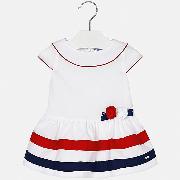 Платье Mayoral для девочкиОдежда<br>Характеристики товара:<br><br>• цвет: белый<br>• состав ткани верха: 97% хлопок, 3% эластан<br>• подкладка: 100% хлопок<br>• сезон: лето<br>• застежка: молния<br>• короткие рукава<br>• страна бренда: Испания<br>• неповторимый стиль Mayoral<br><br>Симпатичное платье для девочки от Майорал поможет обеспечить ребенку комфорт. Это детское платье отличается современным дизайном и кроем, разработанным специально для детей. В платье для девочки от испанской компании Майорал ребенок может чувствовать себя комфортно весь день. <br><br>Платье для девочки Mayoral (Майорал) можно купить в нашем интернет-магазине.<br>Ширина мм: 236; Глубина мм: 16; Высота мм: 184; Вес г: 177; Цвет: белый; Возраст от месяцев: 6; Возраст до месяцев: 9; Пол: Женский; Возраст: Детский; Размер: 74,98,92,86,80; SKU: 7546120;