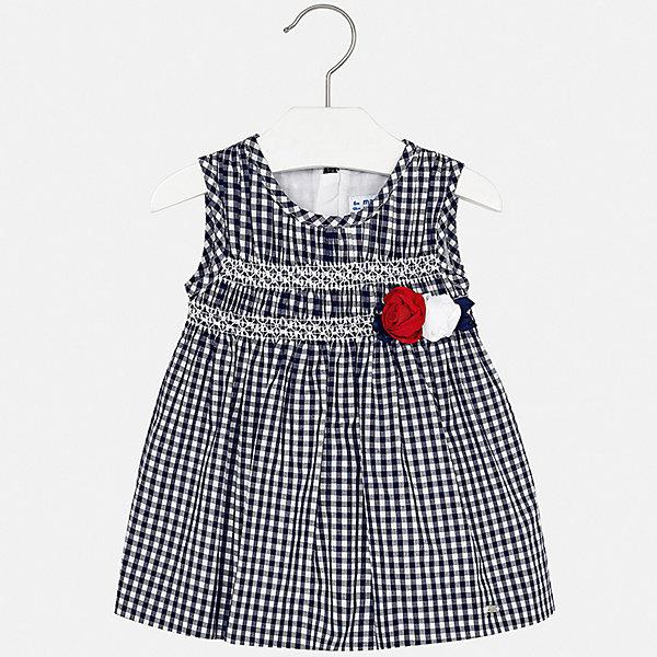Платье Mayoral для девочкиОдежда<br>Характеристики товара:<br><br>• цвет: синий<br>• состав ткани верха: 100% хлопок<br>• подкладка: 100% хлопок<br>• сезон: лето<br>• застежка: молния<br>• без рукавов<br>• страна бренда: Испания<br>• неповторимый стиль Mayoral<br><br>Клетчатое детское платье отличается модным дизайном. Это платье для девочки от Майорал сделано из качественного материала и тщательно подобранной фурнитуры. Платье для девочки от испанской компании Майорал - стильный удачный наряд от европейских дизайнеров. <br><br>Платье для девочки Mayoral (Майорал) можно купить в нашем интернет-магазине.<br>Ширина мм: 236; Глубина мм: 16; Высота мм: 184; Вес г: 177; Цвет: синий; Возраст от месяцев: 24; Возраст до месяцев: 36; Пол: Женский; Возраст: Детский; Размер: 98,74,80,86,92; SKU: 7546126;