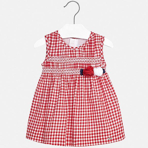 Платье Mayoral для девочкиПлатья<br>Характеристики товара:<br><br>• цвет: красный<br>• состав ткани верха: 100% хлопок<br>• подкладка: 100% хлопок<br>• сезон: лето<br>• застежка: молния<br>• без рукавов<br>• страна бренда: Испания<br>• неповторимый стиль Mayoral<br><br>Это детское платье украшено эффектным декором. Платье для девочки сшито из дышащего и легкого качественного материала, поэтому он создает комфортные условия для тела. Платье для ребенка создано европейскими дизайнерами популярного бренда Mayoral с учетом потребностей детей.<br><br>Платье для девочки Mayoral (Майорал) можно купить в нашем интернет-магазине.<br>Ширина мм: 236; Глубина мм: 16; Высота мм: 184; Вес г: 177; Цвет: красный; Возраст от месяцев: 24; Возраст до месяцев: 36; Пол: Женский; Возраст: Детский; Размер: 98,74,86,92,80; SKU: 7546132;