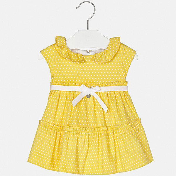 Платье Mayoral для девочкиПлатья и сарафаны<br>Характеристики товара:<br><br>• цвет: желтый<br>• состав ткани верха: 97% хлопок, 3% эластан<br>• подкладка: 100% хлопок<br>• сезон: лето<br>• застежка: молния<br>• короткие рукава<br>• страна бренда: Испания<br>• неповторимый стиль Mayoral<br><br>Яркое детское платье отличается модным дизайном. Это платье для девочки от Майорал сделано из качественного материала и тщательно подобранной фурнитуры. Платье для девочки от испанской компании Майорал - стильный удачный наряд от европейских дизайнеров. <br><br>Платье для девочки Mayoral (Майорал) можно купить в нашем интернет-магазине.<br>Ширина мм: 236; Глубина мм: 16; Высота мм: 184; Вес г: 177; Цвет: желтый; Возраст от месяцев: 6; Возраст до месяцев: 9; Пол: Женский; Возраст: Детский; Размер: 74,92,86,80; SKU: 7546158;