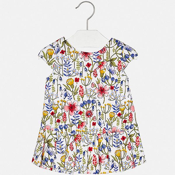 Платье Mayoral для девочкиПлатья<br>Характеристики товара:<br><br>• цвет: белый<br>• состав ткани верха: 100% хлопок<br>• подкладка: 100% хлопок<br>• сезон: лето<br>• короткие рукава<br>• страна бренда: Испания<br>• неповторимый стиль Mayoral<br><br>Яркое платье для девочки от Майорал поможет обеспечить ребенку комфорт. Это детское платье отличается современным дизайном и кроем, разработанным специально для детей. В платье для девочки от испанской компании Майорал ребенок может чувствовать себя комфортно весь день. <br><br>Платье для девочки Mayoral (Майорал) можно купить в нашем интернет-магазине.<br>Ширина мм: 236; Глубина мм: 16; Высота мм: 184; Вес г: 177; Цвет: синий; Возраст от месяцев: 24; Возраст до месяцев: 36; Пол: Женский; Возраст: Детский; Размер: 98,92,86,80,74; SKU: 7546200;