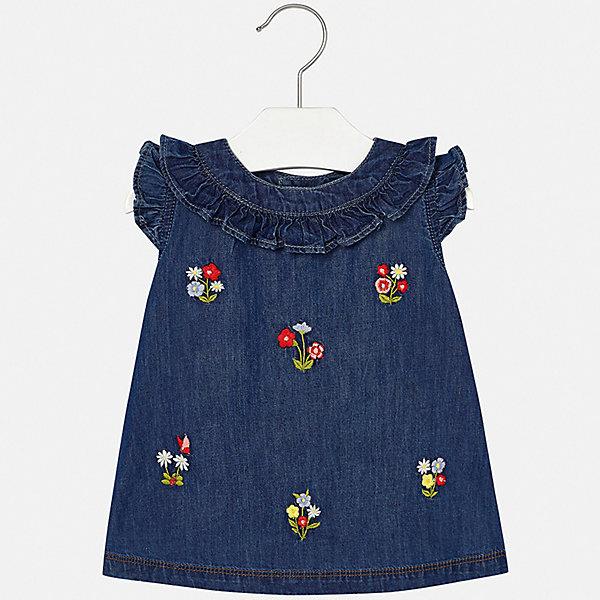 Купить Платье Mayoral для девочки, Индия, голубой, 86, 98, 92, 80, 74, Женский