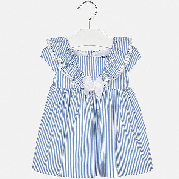 Платье Mayoral для девочкиПлатья<br>Характеристики товара:<br><br>• цвет: голубой<br>• состав ткани верха: 100% хлопок<br>• подкладка: 100% хлопок<br>• сезон: лето<br>• застежка: молния<br>• короткие рукава<br>• страна бренда: Испания<br>• неповторимый стиль Mayoral<br><br>Летнее детское платье украшено эффектным декором. Платье для девочки сшито из дышащего и легкого качественного материала, поэтому он создает комфортные условия для тела. Платье для ребенка создано европейскими дизайнерами популярного бренда Mayoral с учетом потребностей детей.<br><br>Платье для девочки Mayoral (Майорал) можно купить в нашем интернет-магазине.<br>Ширина мм: 236; Глубина мм: 16; Высота мм: 184; Вес г: 177; Цвет: сиреневый; Возраст от месяцев: 6; Возраст до месяцев: 9; Пол: Женский; Возраст: Детский; Размер: 74,98,92,86,80; SKU: 7546212;