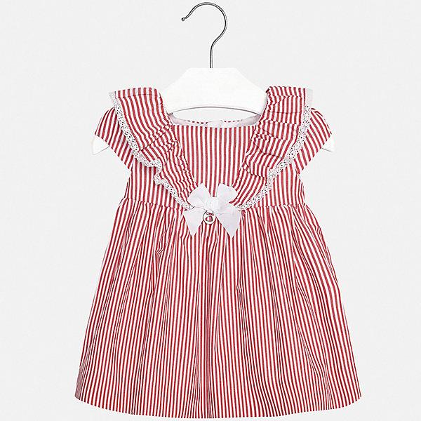 Платье Mayoral для девочкиПлатья<br>Характеристики товара:<br><br>• цвет: белый<br>• состав ткани верха: 100% хлопок<br>• подкладка: 100% хлопок<br>• сезон: лето<br>• застежка: молния<br>• короткие рукава<br>• страна бренда: Испания<br>• неповторимый стиль Mayoral<br><br>Эффектное платье для девочки от Майорал поможет обеспечить ребенку комфорт. Это детское платье отличается современным дизайном и кроем, разработанным специально для детей. В платье для девочки от испанской компании Майорал ребенок может чувствовать себя комфортно весь день. <br><br>Платье для девочки Mayoral (Майорал) можно купить в нашем интернет-магазине.<br>Ширина мм: 236; Глубина мм: 16; Высота мм: 184; Вес г: 177; Цвет: красный; Возраст от месяцев: 24; Возраст до месяцев: 36; Пол: Женский; Возраст: Детский; Размер: 98,74,80,86,92; SKU: 7546218;