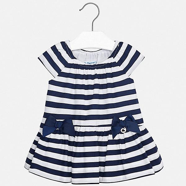 Платье Mayoral для девочкиПлатья<br>Характеристики товара:<br><br>• цвет: синий<br>• состав ткани верха: 100% хлопок<br>• подкладка: 100% хлопок<br>• сезон: лето<br>• короткие рукава<br>• страна бренда: Испания<br>• неповторимый стиль Mayoral<br><br>Полосатое платье для ребенка создано европейскими дизайнерами популярного бренда Mayoral с учетом потребностей детей. Хлопковое детское платье украшено эффектным декором. Платье для девочки сшито из дышащего и легкого качественного материала, поэтому он создает комфортные условия для тела. <br><br>Платье для девочки Mayoral (Майорал) можно купить в нашем интернет-магазине.<br>Ширина мм: 236; Глубина мм: 16; Высота мм: 184; Вес г: 177; Цвет: синий; Возраст от месяцев: 24; Возраст до месяцев: 36; Пол: Женский; Возраст: Детский; Размер: 98,74,80,86,92; SKU: 7546283;