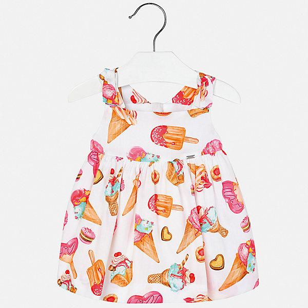 Платье Mayoral для девочкиПлатья<br>Характеристики товара:<br><br>• цвет: белый<br>• состав ткани верха: 100% хлопок<br>• подкладка: 100% хлопок<br>• сезон: лето<br>• застежка: молния<br>• без рукавов<br>• страна бренда: Испания<br>• неповторимый стиль Mayoral<br><br>Яркое платье для ребенка создано европейскими дизайнерами популярного бренда Mayoral с учетом потребностей детей. Хлопковое детское платье украшено эффектным декором. Платье для девочки сшито из дышащего и легкого качественного материала, поэтому он создает комфортные условия для тела. <br><br>Платье для девочки Mayoral (Майорал) можно купить в нашем интернет-магазине.<br>Ширина мм: 236; Глубина мм: 16; Высота мм: 184; Вес г: 177; Цвет: розовый; Возраст от месяцев: 24; Возраст до месяцев: 36; Пол: Женский; Возраст: Детский; Размер: 98,92,86,80; SKU: 7546300;