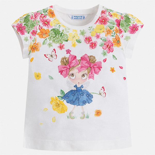 Футболка Mayoral для девочкиФутболки, поло и топы<br>Характеристики товара:<br><br>• цвет: белый<br>• состав ткани: 95% хлопок, 5% эластан<br>• сезон: лето<br>• короткие рукава<br>• стразы<br>• страна бренда: Испания<br>• стиль и качество Mayoral<br><br>Мягкая детская футболка сшита из материала, который содержит хлопок, поэтому она дышащая и комфортная. Детская футболка поможет создать модный и удобный наряд для ребенка. Эта футболка для девочки от Mayoral - универсальная и комфортная базовая вещь для детского гардероба. <br><br>Футболку Mayoral (Майорал) для девочки можно купить в нашем интернет-магазине.<br>Ширина мм: 199; Глубина мм: 10; Высота мм: 161; Вес г: 151; Цвет: зеленый; Возраст от месяцев: 18; Возраст до месяцев: 24; Пол: Женский; Возраст: Детский; Размер: 92,116,110,104,98,122; SKU: 7546540;