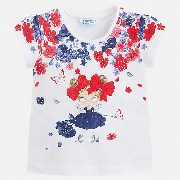 Футболка Mayoral для девочкиФутболки, поло и топы<br>Характеристики товара:<br><br>• цвет: белый<br>• состав ткани: 95% хлопок, 5% эластан<br>• сезон: лето<br>• короткие рукава<br>• стразы<br>• страна бренда: Испания<br>• стиль и качество Mayoral<br><br>Такая детская футболка - универсальная базовая вещь. Эта хлопковая футболка для девочки от Майорал поможет обеспечить ребенку комфорт. В футболке для девочки от испанской компании Майорал ребенок будет чувствовать себя удобно благодаря качественным швам и натуральному материалу. <br><br>Футболку Mayoral (Майорал) для девочки можно купить в нашем интернет-магазине.<br>Ширина мм: 199; Глубина мм: 10; Высота мм: 161; Вес г: 151; Цвет: синий; Возраст от месяцев: 18; Возраст до месяцев: 24; Пол: Женский; Возраст: Детский; Размер: 92,122,116,110,104,98; SKU: 7546554;