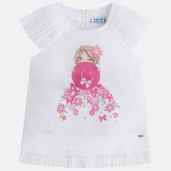 Купить Блуза Mayoral для девочки, Китай, белый, 92, 134, 128, 122, 116, 110, 104, 98, Женский