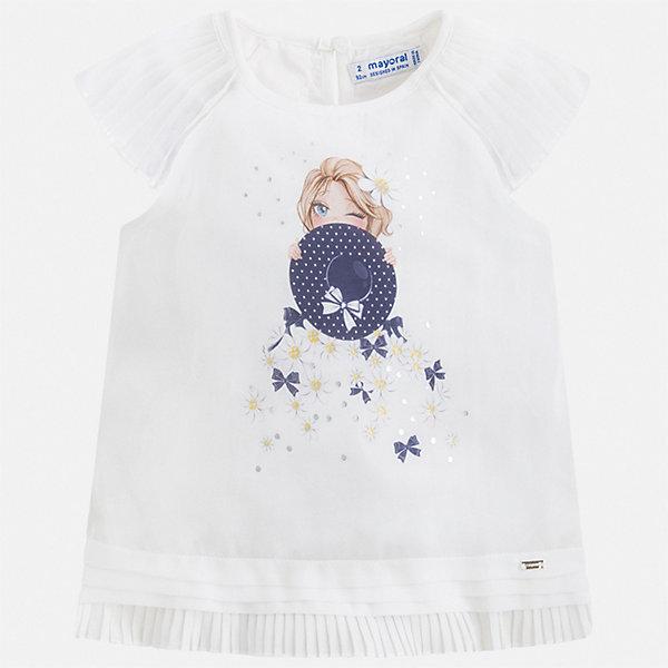 Купить Блуза Mayoral для девочки, Китай, синий, 92, 134, 128, 122, 116, 110, 104, 98, Женский