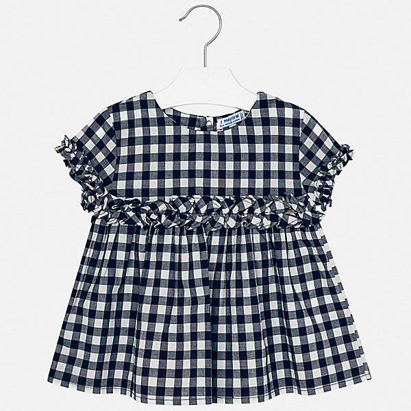 Купить Блуза Mayoral для девочки, Индия, синий, 92, 134, 128, 122, 116, 110, 104, 98, Женский