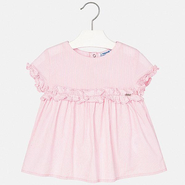 Блуза Mayoral для девочки, Индия, розовый, 110, 134, 128, 122, 116, 104, 98, 92, Женский  - купить со скидкой