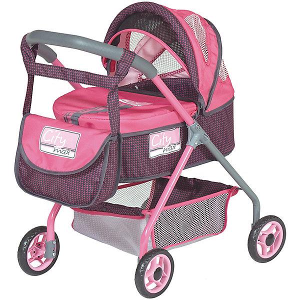 Коляска-люлька DeCuevas Сити с сумкой, 56смТранспорт и коляски для кукол<br>Характеристики:<br><br>• игрушечная коляска для куклы;<br>• предназначена для кукол высотой 30-45 см;<br>• коляска-люлька с функцией качалки;<br>• отделка в фирменном стиле Сити;<br>• аксессуары: сумка;<br>• сетка для вещей;<br>• высота от пола до ручки 56 см;<br>• размер коляски: 38х60х65 см;<br>• размер упаковки: 35х51х56 см;<br>• материал: металлический каркас, прорезиненные колеса, полиэстеровые чехлы и аксессуары<br>• страна бренда: Испания<br>• страна изготовитель: Китай<br><br>Выйти на прогулку с любимой куколкой, прогуляться в парке или на детской площадке – игрушечная коляска для кукол идеальна для дома и улицы. Классическая люлька-качалка на прорезиненных колесах укомплектована дополнительно сумочкой для «мамы». Девочка катает коляску, проявляет заботу и внимание.<br><br>Коляску-люльку с сумкой серии Сити 56 см, DeCuevas можно купить в нашем интернет-магазине.<br>Ширина мм: 350; Глубина мм: 511; Высота мм: 566; Вес г: 240; Возраст от месяцев: 36; Возраст до месяцев: 2147483647; Пол: Женский; Возраст: Детский; SKU: 7547169;