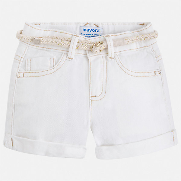 Шорты Mayoral для девочкиШорты, бриджи, капри<br>Характеристики товара:<br><br>• цвет: белый<br>• комплектация: шорты, ремень<br>• состав ткани: 98% хлопок, 2% эластан<br>• сезон: лето<br>• шлевки<br>• регулируемая талия<br>• застежка: пуговица<br>• страна бренда: Испания<br>• неповторимый стиль Mayoral<br><br>Легкие шорты для девочки от Майорал помогут обеспечить ребенку комфорт. Такие детские шорты отличаются лаконичным дизайном. В шортах для девочки от испанской компании Майорал ребенок будет выглядеть модно, а чувствовать себя - комфортно. <br><br>Шорты Mayoral (Майорал) для девочки можно купить в нашем интернет-магазине.<br>Ширина мм: 191; Глубина мм: 10; Высота мм: 175; Вес г: 273; Цвет: бежевый; Возраст от месяцев: 96; Возраст до месяцев: 108; Пол: Женский; Возраст: Детский; Размер: 134,92,98,104,110,116,122,128; SKU: 7547699;