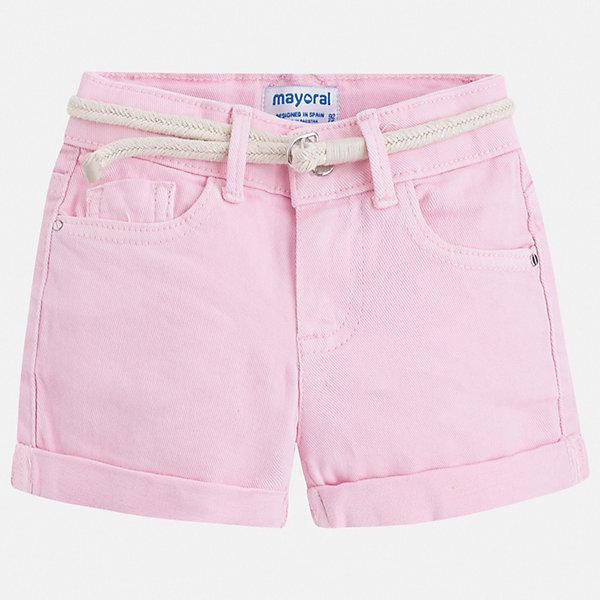 Шорты Mayoral для девочкиШорты, бриджи, капри<br>Характеристики товара:<br><br>• цвет: розовый<br>• комплектация: шорты, ремень<br>• состав ткани: 98% хлопок, 2% эластан<br>• сезон: лето<br>• шлевки<br>• регулируемая талия<br>• застежка: пуговица<br>• страна бренда: Испания<br>• неповторимый стиль Mayoral<br><br>Модные детские шорты сшиты из дышащего легкого материала. Благодаря преобладанию в его составе натурального хлопка материал детских шорт создает комфортные условия для тела. Шорты для девочки от Mayoral отличаются стильным дизайном.<br><br>Шорты Mayoral (Майорал) для девочки можно купить в нашем интернет-магазине.<br>Ширина мм: 191; Глубина мм: 10; Высота мм: 175; Вес г: 273; Цвет: розовый; Возраст от месяцев: 18; Возраст до месяцев: 24; Пол: Женский; Возраст: Детский; Размер: 92,134,128,122,116,110,104,98; SKU: 7547717;