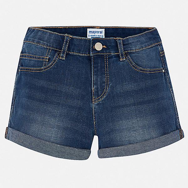 Купить Шорты джинсовые Mayoral для девочки, Бангладеш, белый, 128/134, 170, 164, 158, 152, 140, Женский