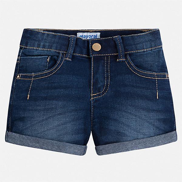 Купить Шорты джинсовые Mayoral для девочки, Бангладеш, синий, 92, 134, 128, 116, 122, 110, 104, 98, Женский