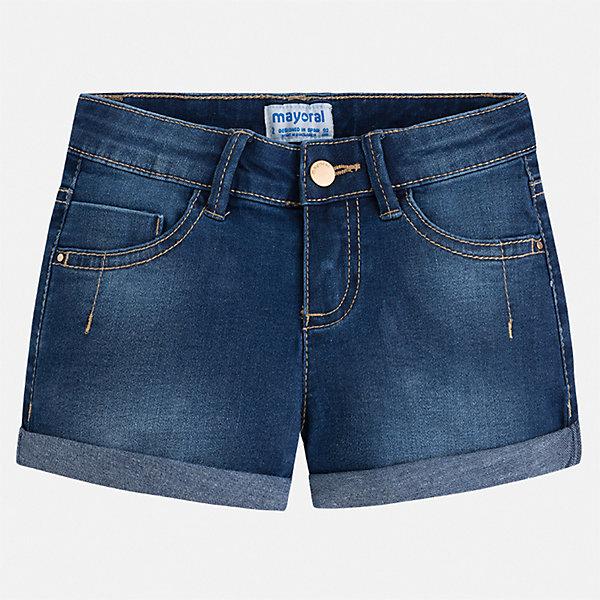 Купить Шорты джинсовые Mayoral для девочки, Бангладеш, синий, 92, 134, 128, 122, 116, 110, 104, 98, Женский