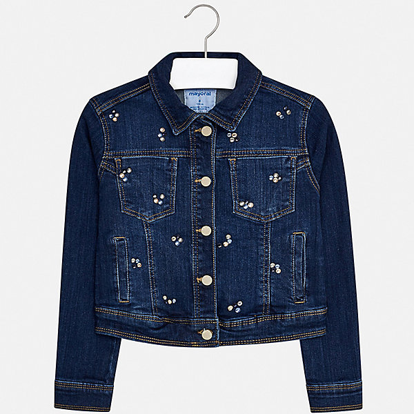 Купить Куртка Mayoral для девочки, Пакистан, синий, 128/134, 170, 164, 158, 152, 140, Женский