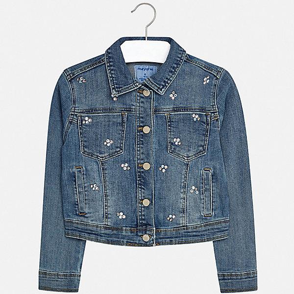 Купить Куртка Mayoral для девочки, Пакистан, белый, 128/134, 170, 164, 158, 152, 140, Женский