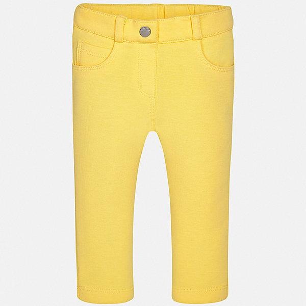 Брюки Mayoral для девочкиДжинсы и брючки<br>Характеристики товара:<br><br>• цвет: желтый<br>• состав ткани: 96% хлопок, 4% эластан<br>• сезон: демисезон<br>• шлевки<br>• регулируемая талия<br>• застежка: пуговица<br>• страна бренда: Испания<br>• неповторимый стиль Mayoral<br><br>Мягкие брюки сшиты из дышащего приятного на ощупь материала. Благодаря преобладанию в его составе натурального хлопка материал детских брюк создает комфортные условия для тела. Классические брюки для девочки отличаются стильным дизайном.<br><br>Брюки Mayoral (Майорал) для девочки можно купить в нашем интернет-магазине.<br>Ширина мм: 215; Глубина мм: 88; Высота мм: 191; Вес г: 336; Цвет: желтый; Возраст от месяцев: 24; Возраст до месяцев: 36; Пол: Женский; Возраст: Детский; Размер: 98,74,80,86,92; SKU: 7547931;