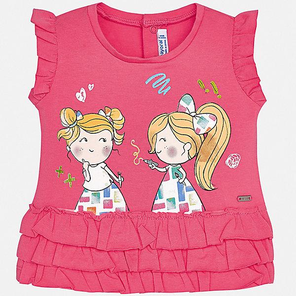 Футболка Mayoral для девочкиФутболки, топы<br>Характеристики товара:<br><br>• цвет: розовый<br>• состав ткани: 92% хлопок, 8% эластан<br>• сезон: лето<br>• застежка: кнопки<br>• короткие рукава<br>• страна бренда: Испания<br>• неповторимый стиль Mayoral<br><br>Хлопковая детская футболка сделана из натуральной трикотажной ткани, которая обеспечивает ребенку комфорт. Такая детская футболка поможет создать модный и удобный наряд для ребенка. Эта футболка для девочки от Mayoral - универсальная и комфортная базовая вещь для детского гардероба. <br><br>Футболку Mayoral (Майорал) для девочки можно купить в нашем интернет-магазине.<br>Ширина мм: 199; Глубина мм: 10; Высота мм: 161; Вес г: 151; Цвет: розовый; Возраст от месяцев: 6; Возраст до месяцев: 9; Пол: Женский; Возраст: Детский; Размер: 74,92,86,80; SKU: 7548066;