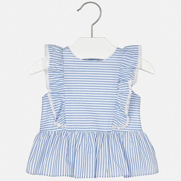 Блуза Mayoral для девочкиКофточки и распашонки<br>Характеристики товара:<br><br>• цвет: голубой<br>• состав ткани: 100% хлопок<br>• сезон: лето<br>• застежка: пуговицы<br>• страна бренда: Испания<br>• неповторимый стиль Mayoral<br><br>Такая детская блуза отличается модным дизайном от ведущих специалистов испанского бренда Mayoral. Эта блуза для девочки смотрится стильно и элегантно. Края детской блузы обработаны кружевами. <br><br>Блузу Mayoral (Майорал) для девочки можно купить в нашем интернет-магазине.<br>Ширина мм: 186; Глубина мм: 87; Высота мм: 198; Вес г: 197; Цвет: сиреневый; Возраст от месяцев: 6; Возраст до месяцев: 9; Пол: Женский; Возраст: Детский; Размер: 74,80,86,92; SKU: 7548149;