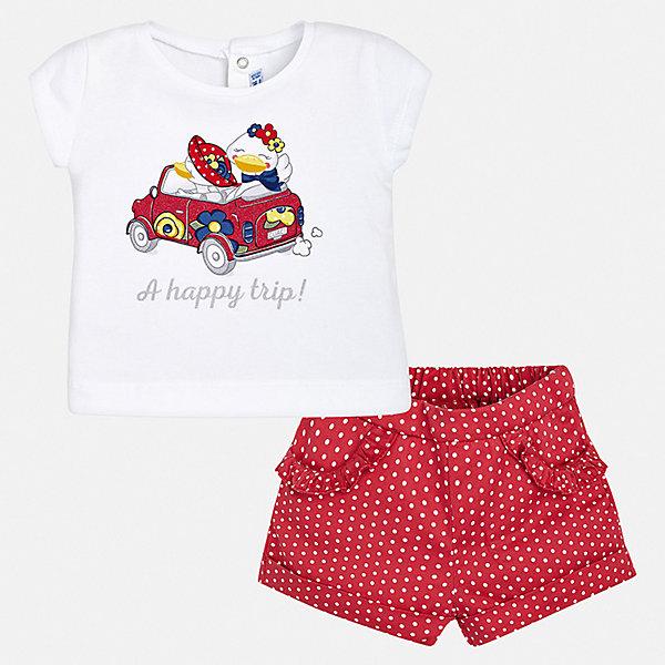 Купить Комплект:бриджи, футболка Mayoral для девочки, Китай, красный, 74, 98, 92, 86, 80, Женский