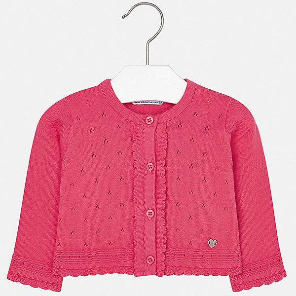 Кардиган Mayoral для девочкиТолстовки, свитера, кардиганы<br>Характеристики товара:<br><br>• цвет: фуксия<br>• состав ткани: 100% хлопок<br>• сезон: демисезон<br>• застежка: пуговицы<br>• длинные рукава<br>• страна бренда: Испания<br>• неповторимый стиль Mayoral<br><br>Оригинальный жакет для ребенка поможет поставить яркий акцент в наряде. Жакет для девочки отличается высоким качеством пошива. Детский жакет разработан европейскими дизайнерами бренда Mayoral с учетом последних тенденций в моде. <br><br>Жакет Mayoral (Майорал) для девочки можно купить в нашем интернет-магазине.<br>Ширина мм: 190; Глубина мм: 74; Высота мм: 229; Вес г: 236; Цвет: розовый; Возраст от месяцев: 24; Возраст до месяцев: 36; Пол: Женский; Возраст: Детский; Размер: 98,74,80,86,92; SKU: 7548312;
