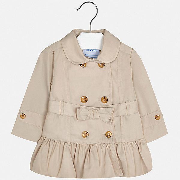 Купить Куртка Mayoral для девочки, Китай, бежевый, 74, 98, 92, 86, 80, Женский