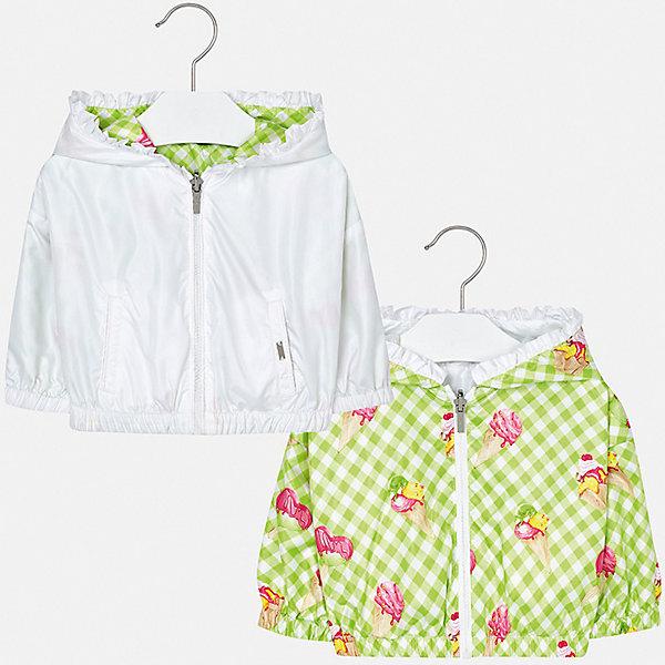 Куртка двусторонняя Mayoral для девочкиВерхняя одежда<br>Характеристики товара:<br><br>• цвет: зеленый<br>• состав ткани: 100% полиэстер<br>• подкладка: 100% полиамид<br>• утеплитель: нет<br>• сезон: демисезон<br>• температурный режим: от +10 до +20<br>• особенности куртки: с капюшоном, двусторонняя<br>• капюшон: несъемный<br>• застежка: молния<br>• страна бренда: Испания<br>• неповторимый стиль Mayoral<br><br>Двусторонняя ветровка для девочки от Майорал - это сразу две модели в одной. Детская куртка отличается модным и продуманным дизайном. В куртке для девочки от испанской компании Майорал ребенок будет выглядеть модно, а чувствовать себя - комфортно. <br><br>Куртку двустороннюю Mayoral (Майорал) для девочки можно купить в нашем интернет-магазине.<br>Ширина мм: 356; Глубина мм: 10; Высота мм: 245; Вес г: 519; Цвет: белый; Возраст от месяцев: 24; Возраст до месяцев: 36; Пол: Женский; Возраст: Детский; Размер: 98,86,92; SKU: 7548374;