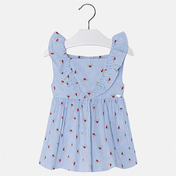 Блуза Mayoral для девочки, Индия, голубой, 92, 116, 110, 104, 98, Женский  - купить со скидкой