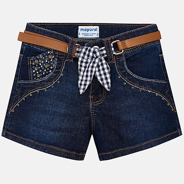 Купить Шорты джинсовые Mayoral для девочки, Индия, синий, 92, 134, 128, 122, 116, 110, 104, 98, Женский