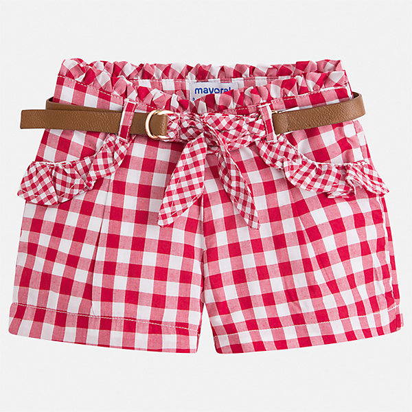 Шорты Mayoral для девочкиШорты, бриджи, капри<br>Характеристики товара:<br><br>• цвет: мульти<br>• комплектация: шорты, ремень<br>• состав ткани: 100% хлопок<br>• сезон: лето<br>• регулируемая талия<br>• застежка: молния<br>• шлевки<br>• страна бренда: Испания<br>• стиль и качество Mayoral<br><br>Легкие детские шорты от Mayoral подойдут для ношения с различными футболками, майками и блузами в жаркую погоду. Детские шорты сшиты из качественного материала с преобладанием хлопка в составе. Шорты для девочки Mayoral дополнены шлевками. <br><br>Шорты Mayoral (Майорал) для девочки можно купить в нашем интернет-магазине.<br>Ширина мм: 191; Глубина мм: 10; Высота мм: 175; Вес г: 273; Цвет: красный; Возраст от месяцев: 18; Возраст до месяцев: 24; Пол: Женский; Возраст: Детский; Размер: 92,134,128,122,116,110,104,98; SKU: 7548723;