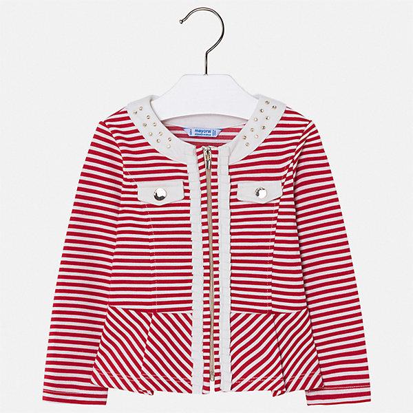 Пиджак Mayoral для девочкиКостюмы и пиджаки<br>Характеристики товара:<br><br>• цвет: красный<br>• состав ткани: 59% полиэстер, 39% вискоза, 2% эластан<br>• сезон: демисезон<br>• длинные рукава<br>• застежка: молния<br>• страна бренда: Испания<br>• стиль и качество Mayoral<br><br>Пиджак для девочки Mayoral дополнен удобной молнией. Пиджак для ребенка отличается стильным силуэтом. Детский пиджак обеспечит ребенку аккуратный внешний вид. Детский пиджак сшит из качественного приятного на ощупь материала.<br><br>Пиджак Mayoral (Майорал) для девочки можно купить в нашем интернет-магазине.<br>Ширина мм: 190; Глубина мм: 74; Высота мм: 229; Вес г: 236; Цвет: красный; Возраст от месяцев: 18; Возраст до месяцев: 24; Пол: Женский; Возраст: Детский; Размер: 92,134,128,122,116,110,104,98; SKU: 7549011;