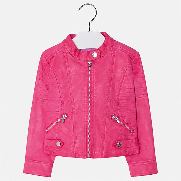 Куртка Mayoral для девочкиВерхняя одежда<br>Характеристики товара:<br><br>• цвет: розовый<br>• состав ткани: 100% полиуретан<br>• подкладка: 100% полиэстер<br>• утеплитель: нет<br>• сезон: демисезон<br>• особенности куртки: без капюшона<br>• застежка: молния<br>• страна бренда: Испания<br>• стиль и качество Mayoral<br><br>Яркая детская куртка подойдет для переменной погоды. Отличный способ обеспечить ребенку тепло и комфорт - надеть такую куртку от Mayoral. Детская куртка сшита из приятного на ощупь материала. Куртка для девочки Mayoral украшена стильным декором.<br><br>Куртку Mayoral (Майорал) для девочки можно купить в нашем интернет-магазине.<br>Ширина мм: 356; Глубина мм: 10; Высота мм: 245; Вес г: 519; Цвет: розовый; Возраст от месяцев: 18; Возраст до месяцев: 24; Пол: Женский; Возраст: Детский; Размер: 92,134,128,122,116,110,104,98; SKU: 7549038;