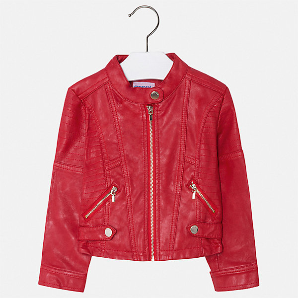Куртка Mayoral для девочкиВетровки и жакеты<br>Характеристики товара:<br><br>• цвет: красный<br>• состав ткани: 100% полиуретан<br>• подкладка: 100% полиэстер<br>• утеплитель: нет<br>• сезон: демисезон<br>• особенности куртки: без капюшона<br>• застежка: молния<br>• страна бренда: Испания<br>• стиль и качество Mayoral<br><br>Легкая куртка для девочки отличается стильным продуманным кроем от европейских дизайнеров. Детская куртка была разработана специально для девочек, модель дополнена удобной застежкой. Детская куртка сделана из качественного материала и фурнитуры. <br><br>Куртку Mayoral (Майорал) для девочки можно купить в нашем интернет-магазине.<br>Ширина мм: 356; Глубина мм: 10; Высота мм: 245; Вес г: 519; Цвет: красный; Возраст от месяцев: 96; Возраст до месяцев: 108; Пол: Женский; Возраст: Детский; Размер: 134,92,98,104,110,116,122,128; SKU: 7549047;