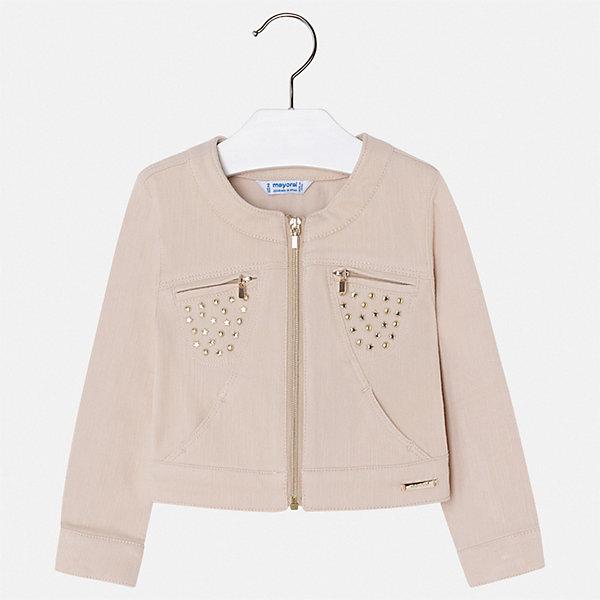 Купить Куртка Mayoral для девочки, Китай, бежевый, 92, 134, 128, 122, 116, 110, 104, 98, Женский