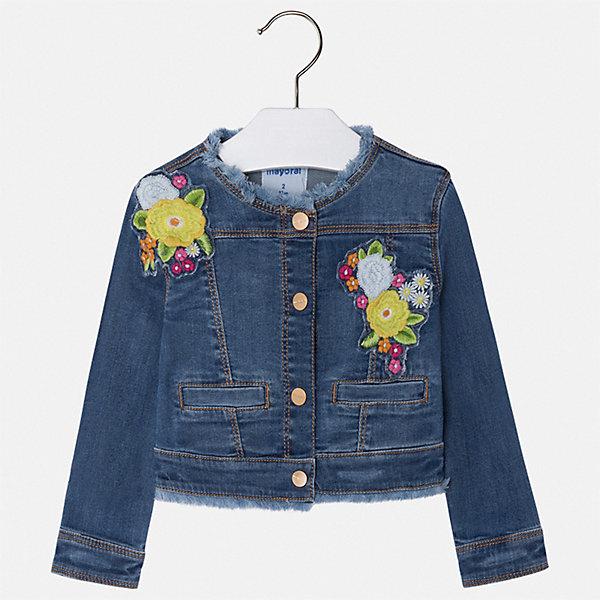 Купить Куртка Mayoral для девочки, Индия, синий, 92, 134, 128, 122, 116, 110, 104, 98, Женский