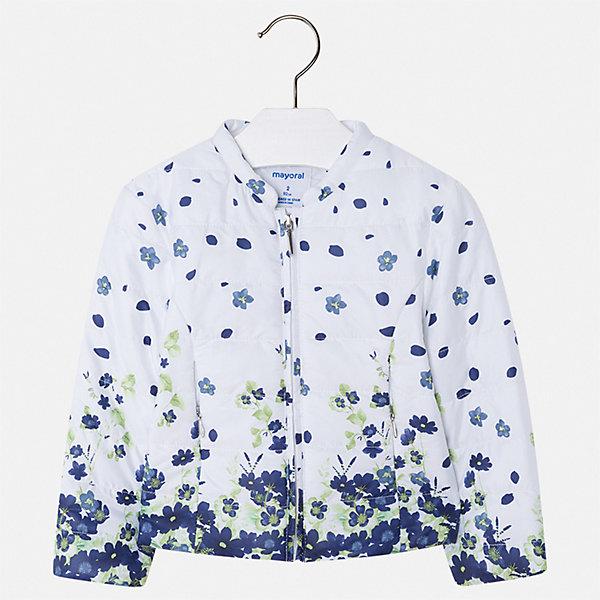 Куртка Mayoral для девочкиВерхняя одежда<br>Характеристики товара:<br><br>• цвет: мульти<br>• состав ткани: 100% полиэстер<br>• подкладка: 100% полиэстер<br>• утеплитель: 100% полиэстер<br>• сезон: демисезон<br>• температурный режим: от +10 до +20<br>• особенности куртки: без капюшона<br>• застежка: молния<br>• страна бренда: Испания<br>• стиль и качество Mayoral<br><br>Такая детская куртка отличается модным и продуманным дизайном. В куртке для девочки от испанской компании Майорал ребенок будет выглядеть модно, а чувствовать себя - комфортно. Эта легкая куртка для девочки от Майорал поможет обеспечить ребенку комфорт и тепло. <br><br>Куртку Mayoral (Майорал) для девочки можно купить в нашем интернет-магазине.<br>Ширина мм: 356; Глубина мм: 10; Высота мм: 245; Вес г: 519; Цвет: синий; Возраст от месяцев: 18; Возраст до месяцев: 24; Пол: Женский; Возраст: Детский; Размер: 92,134,128,122,116,110,104,98; SKU: 7549191;