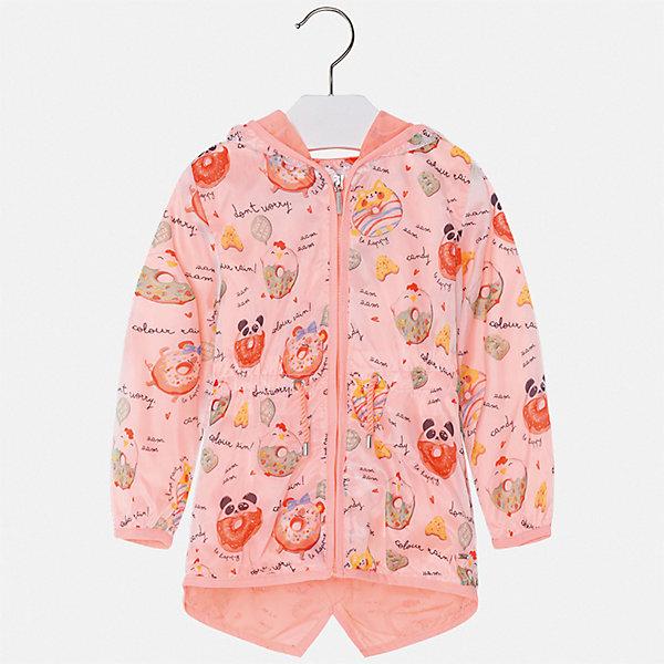 Куртка Mayoral для девочкиВетровки и жакеты<br>Характеристики товара:<br><br>• цвет: розовый<br>• состав ткани: 100% полиэстер<br>• подкладка: 100% полиэстер<br>• утеплитель: нет<br>• сезон: демисезон<br>• температурный режим: от +10 до +20<br>• особенности куртки: с капюшоном<br>• застежка: молния<br>• страна бренда: Испания<br>• стиль и качество Mayoral<br><br>Удлиненная детская куртка сшита из приятного на ощупь материала. Куртка для девочки Mayoral украшена стильным декором. Эта детская куртка подойдет для переменной погоды. Отличный способ обеспечить ребенку тепло и комфорт - надеть такую куртку от Mayoral. <br><br>Куртку Mayoral (Майорал) для девочки можно купить в нашем интернет-магазине.<br>Ширина мм: 356; Глубина мм: 10; Высота мм: 245; Вес г: 519; Цвет: оранжевый; Возраст от месяцев: 96; Возраст до месяцев: 108; Пол: Женский; Возраст: Детский; Размер: 134,92,98,104,110,116,122,128; SKU: 7549200;
