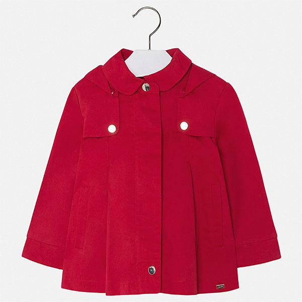Плащ Mayoral для девочкиВерхняя одежда<br>Характеристики товара:<br><br>• цвет: красный<br>• состав ткани: 100% хлопок<br>• подкладка: 100% хлопок<br>• утеплитель: нет<br>• сезон: демисезон<br>• температурный режим: от +10 до +20<br>• особенности модели: с капюшоном<br>• застежка: молния<br>• страна бренда: Испания<br>• стиль и качество Mayoral<br><br>В этом классическом детском плаще есть капюшон, модель дополнена удобной молнией. Детский плащ сделан из качественного материала и фурнитуры. Легкий плащ для девочки отличается стильным продуманным кроем от европейских дизайнеров. <br><br>Плащ Mayoral (Майорал) для девочки можно купить в нашем интернет-магазине.<br>Ширина мм: 356; Глубина мм: 10; Высота мм: 245; Вес г: 519; Цвет: красный; Возраст от месяцев: 18; Возраст до месяцев: 24; Пол: Женский; Возраст: Детский; Размер: 92,134,128,122,116,110,104,98; SKU: 7549227;