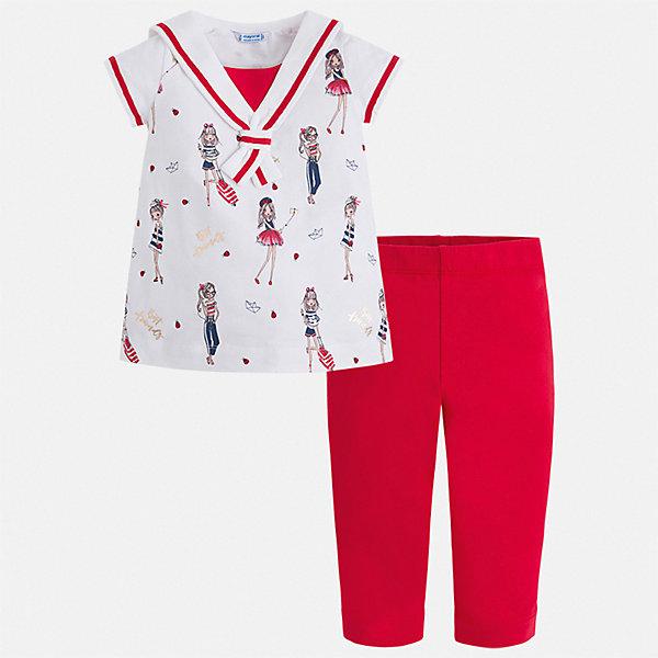 Купить Комплект:леггинсы, блузка Mayoral для девочки, Индия, красный, 92, 134, 128, 122, 116, 110, 104, 98, Женский