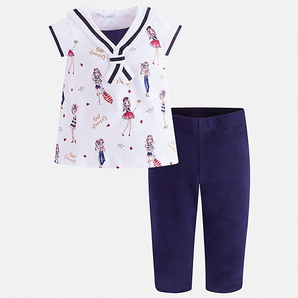 Купить Комплект:леггинсы, блузка Mayoral для девочки, Индия, синий, 92, 134, 128, 122, 116, 110, 104, 98, Женский