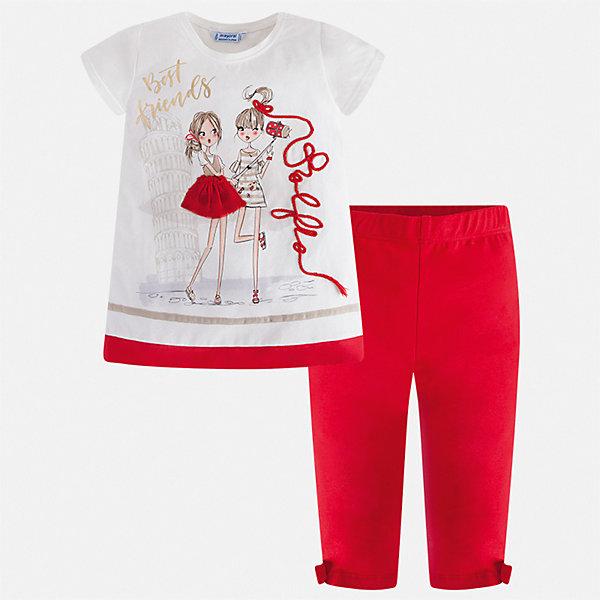 Купить Комплект:леггинсы, блузка Mayoral для девочки, Китай, красный, 92, 134, 128, 122, 116, 110, 104, 98, Женский