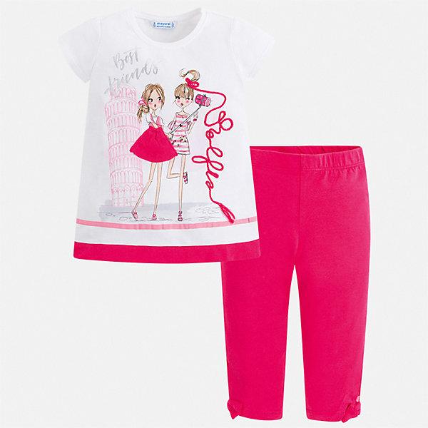 Купить Комплект:леггинсы, блузка Mayoral для девочки, Китай, розовый, 92, 134, 128, 122, 116, 110, 104, 98, Женский